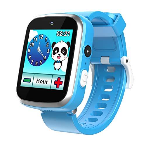 Smartwatch für Kinder - Majome Kinderuhr Mädchen mit Schrittzähler MP3-Kamera, Rechner und 9 Spiele Kinder Uhren, geeignet für Geburtstagsgeschenke für Jungen und Mädchen im Alter von 3-12 Jahren