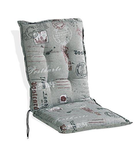Sesselauflage Sitzpolster Gartenstuhlauflage für Mittellehner | 50x110 cm | Anthrazit
