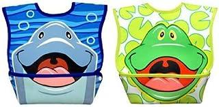 Dex Baby Dura-Bib Big Mouth Bibs, 2 Pack - Dolphin & Frog
