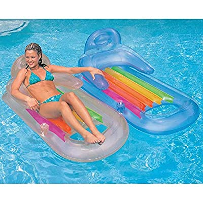 """Intex King Kool Inflatable Lounge Blue & Pearlescent Silver Gift Set Bundle - 2 Pack, 63"""" X 33.5"""""""