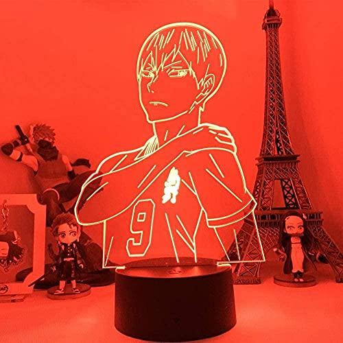 Lámpara de ilusión 3d noche luz LED anime haikyu creative personaje 7 colores iluminación lámpara lámpara sala decoración mesa niños regalo de cumpleaños vacaciones