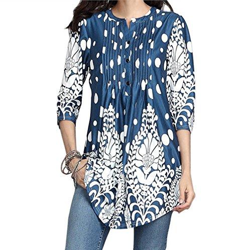 SHINEHUA T-shirt dames lange mouwen bloes blouse elegante vrije tijd V-hals tuniek oversize lange mouwen shirt herfst lente tuniek T-shirts tops locker knoopsluiting henley shirt blouse bovendeel