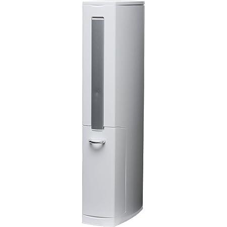 aisen 一体型トイレブラシ トイレタワー ホワイト 41.5×81×6.5cm