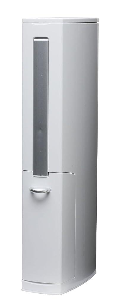 担保アカウント箱aisen 一体型トイレブラシ トイレタワー ホワイト 41.5×81×6.5cm