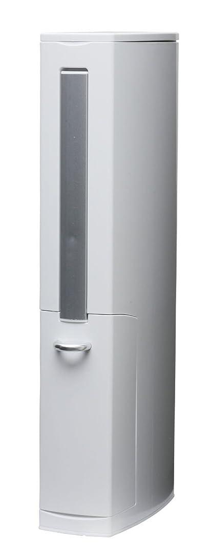 悪いバルーンシアーaisen 一体型トイレブラシ トイレタワー ホワイト 41.5×81×6.5cm