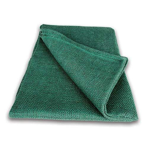 NOOR Premium Jute-Decke 1 x 3 m I Jute-Zuschnitt Grün zum Adventskalender selber basteln, als Deko-Material oder als Frostschutz für Pflanzen I Jute-Winterschutz für Topf- und Kübelpflanzen