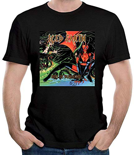 Iced Earth Days of Purgatory Men's Casual Short Sleeve T-Shirt Black,Black,XX-Large