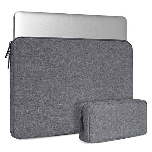 Laptop Case 14-15 Inch, Chromebook Bag for HP 2019 14 Laptop/HP EliteBook 840 14/HP Stream 14/HP Pavilion x360/HP Spectre x360 15.6/HP Probook 14,Notebook Tablet Sleeve with Small Bag, Grey
