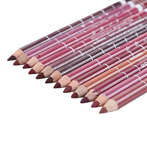 12 Lipliner Nude von Beyond Dreams - Lippenstift - Nudetöne Nudefarben - Lippen-Konturenstift Set - Make-Up Wasserfest Lip Liner