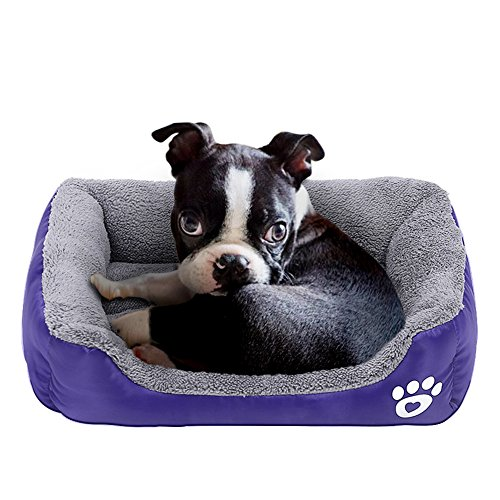 Barelove Square Large Dog Bed Mattress Washable Pads Room Waterproof Bottom (Small, Purple)