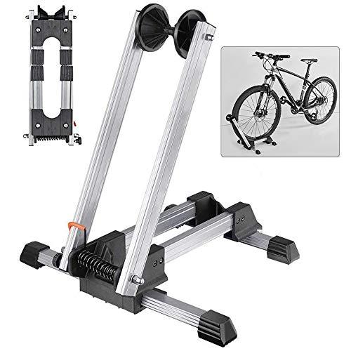LOVEHOUGE Plegable Soporte De Almacenamiento De Bicicletas,Aluminio Bastidor De Estacionamiento para Bicicletas, Resistente A Los Arañazos,Ajuste La Mayoría De Las Bicicletas,Blanco