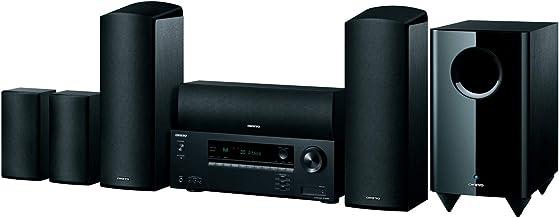 Onkyo HT-S5915 - Home Cinema de 5,1,2 Canales (HAT-R495 Reciver + Sistema de Altavoces HTTP-598; Dolby Atmos, Sonido 3D, función AccuReflex, Bluetooth), Color Negro