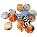 qiaokonjian 11 Piece Set Space Planet Throw Pillow Covers Solar System Universe Planet Image Decorative Cushion Cover Round Accent Pillow Case 3D Home Decoration Pillows Covers 10X10Inch…