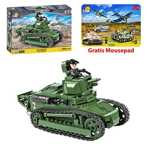 Konstruktion Spielzeug Bauklötzen Bausteine Panzer Renault FT-17 Tanks Cobi 2973 + Mauspad von Juminox Gratis