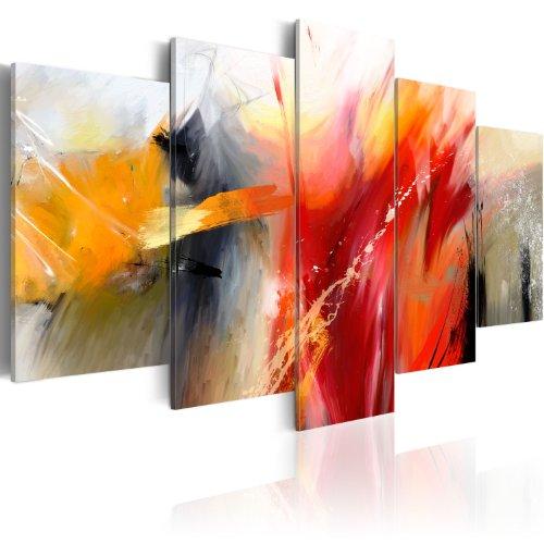 murando - Cuadro en Lienzo 200x100 - Impresión de 5 Piezas Material Tejido no Tejido Impresión Artística Imagen Gráfica Decoracion de Pared Abstracto 0101-57