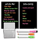 "Magnetic Dry Erase Boards for Refrigerator (2 Pieces, 6.25"" x 9.75""), Color Markers and Magnetic Pen..."