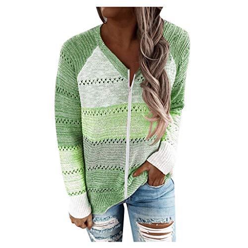 YANFANG Sudadera con Capucha para Mujer de Punto Invierno Casual de Color sólido con Cuello en v Manga Larga suéter Blusa Tops Sweatshirt Invierno