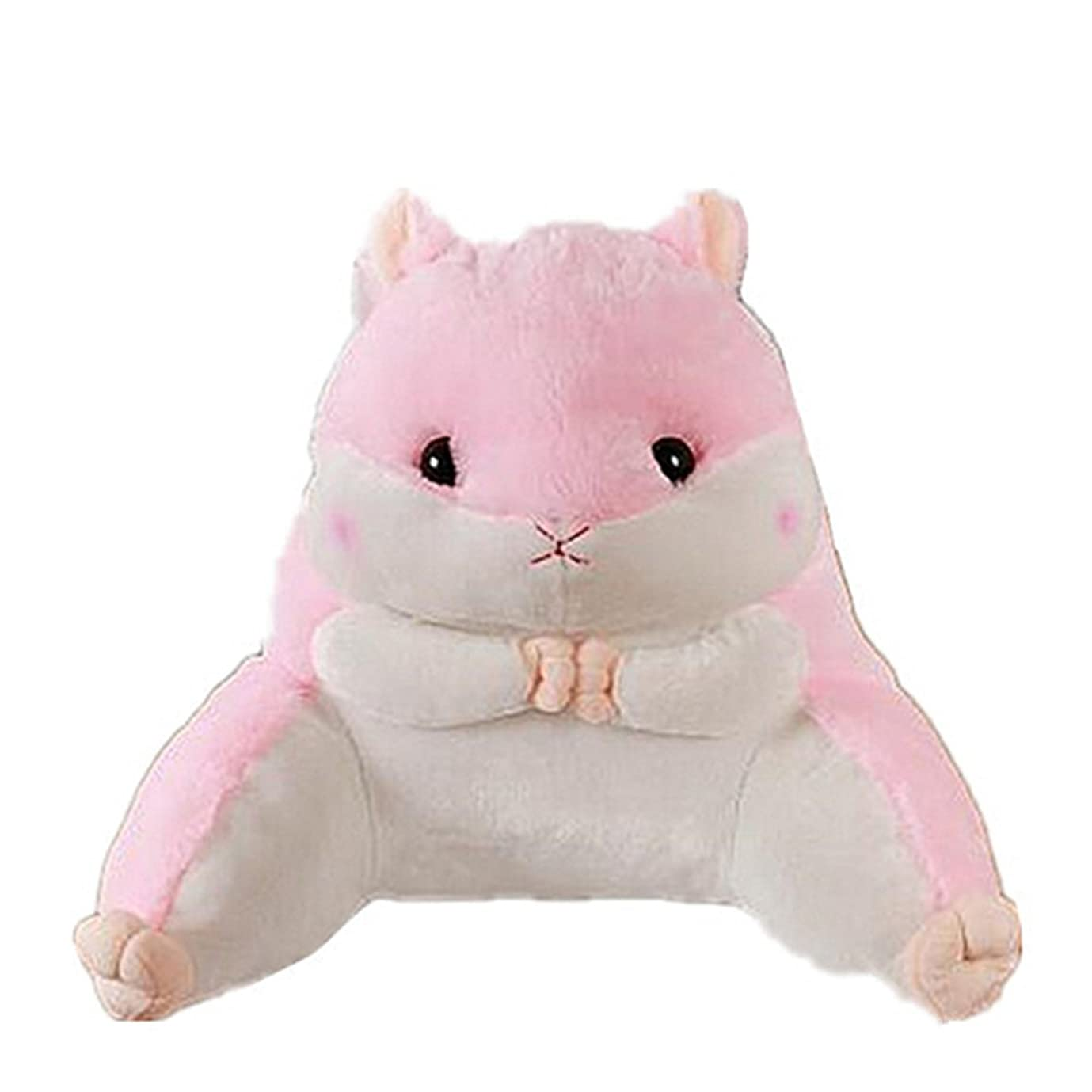 インシュレータ承認するトレーニングラブリーハムスターウエスト背中ピローの動物ソフトぬいぐるみソファベッド車の腰のクッション (ピンク)