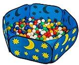 smart&clever® pop up himmlisches Babypool Bällebad Bällepool + 450 Bunte Bälle