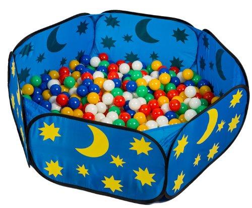 smart&clever pop up himmlisches Babypool Bällebad Bällepool + 450 Bunte Bälle