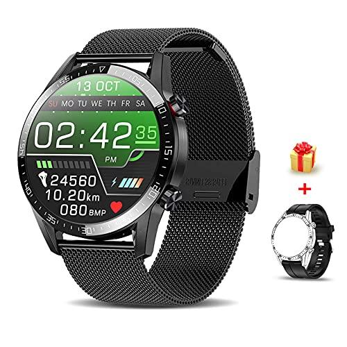 Voigoo Smartwatch(2021 Nuovo,Chiamata Bluetooth) Orologio Fitness Donna Uomo Smart Watch Contapassi Cardiofrequenzimetro da Polso ECG Orologio Sportivo Activity Tracker Cronometro per Android iOS
