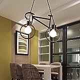 LIGHT SUI Moderna nórdica Hierro Retro de la Bicicleta de la lámpara de café iluminación de la lámpara Loft lámpara del Dormitorio de la lámpara Tienda decoración del hogar (Excluyendo el Bulbo)