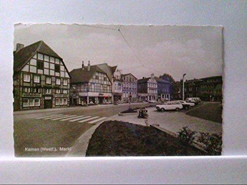 AK Kamen in Westfalen, Markt, alte PKW, Geschäfte.