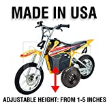 BYP_MFG_INC Adjustable Height Razor MX650 MX 650 Kids Youth Training Wheels ONLY