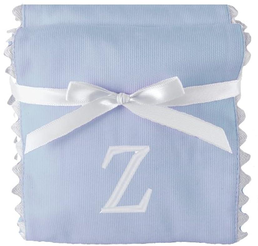 Princess Linens Garden Pique Burp Pad Set - Light Blue with White Rick Rack Trim-Z