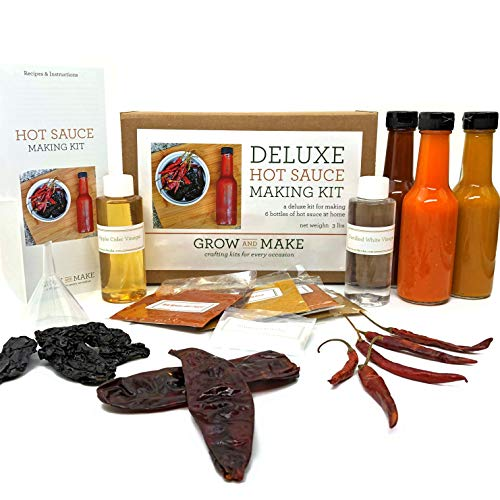 Grow and Make: Deluxe DIY Gourmet Hot Sauce Kit, 6 Recipes Included