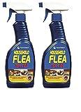 2 bombolette spray antiparassitari da 500 ml, ideale per cani, gatti, cucce e cucce