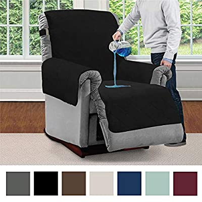 Mighty Monkey Premium Water Resistant Furniture Recliner Slipcover, Suede-Like, Oeko Tex Certified, Absorbs Multiple Cups of Water, Slip Reducing Backing, Furniture Protector Cover for Kids, Dogs, Pet