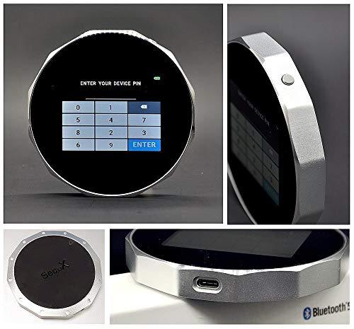 SecuX V20 Crypto-Hardware-portemonnee met hoge veiligheid Bluetooth Bitcoin Wallet - de ideale oplossing voor het veilig opbergen van je Bitcoin, ethereum, ripple, Litecoin, Bitcoin Cash en nog veel meer