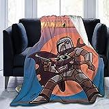 RJin92 The Mand-Alo-rian Blankets Manta de Franela Impreso en 3D Mantas Suaves y...