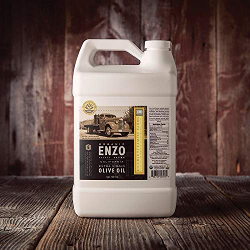 Enzo, California Extra Virgin Olive Oil (Olivenöl), COOC-zertifiziert, Bold (Koroneiki), 1 Gallone (3,785 Liter)