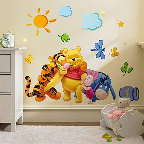 WEIJUAN Winnie The Pooh Freunde Wandaufkleber Für Kinderzimmer Dekorative Aufkleber Adesivo De Parede Abnehmbare PVC Wandtattoo