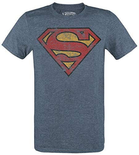 Superman Herren T-Shirt, blau, L