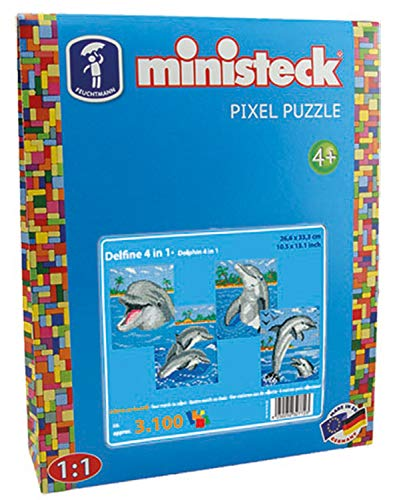 Ministeck 32772 - Delfine mit Hintergrund 4in1, ca. 3.100 Teile