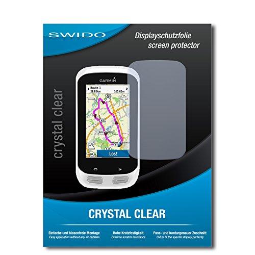 2 x SWIDO Protector de pantalla Garmin Edge Explore 1000 Protectores de pantalla de película 'CrystalClear' invisible