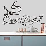 HuntGold 1 X taza de café patrón habitación cocina bricolaje decoración arte vinilo pvc adhesivo decorativo para pared