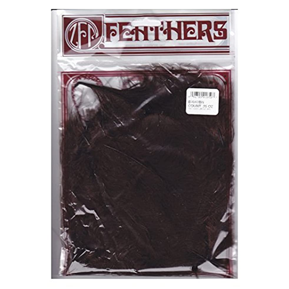 Zucker Feather (TM) - Loose Turkey Marabou Dyed - Brown