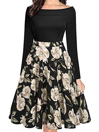 Classy Elegant Off the Shoulder Long Sleeve Wedding Dress Tea Length