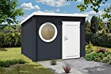 CARLSSON Modernes Holz Gartenhaus Maria-Rondo mit Boden | Geräteschuppen mit Isolierglas-Verglasung (300 x 250cm)