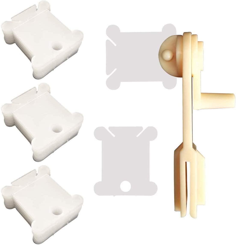 400 Pieces Plastic Floss Bobbins with Winders Bobbin for Under 5 ☆ popular blast sales Cross 2