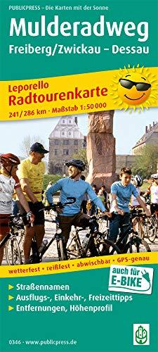 Mulderadweg, Freiberg/Zwickau - Dessau: Leporello Radtourenkarte mit Ausflugszielen, Einkehr- & Freizeittipps, wetterfest, reissfest, abwischbar, ... GPS-genau (Leporello Radtourenkarte / LEP-RK)
