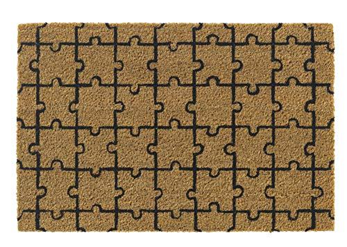 Hamat Kokos/zwart deurmat, 40 x 60, 1471402531