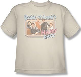 Cbs - - Happy Days / Rockin 'At jóvenes Camiseta de Arnold En Crema