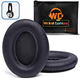 WC Premium Replacement Ear Pads for Bose Headphones Made by Wicked Cushions - Supreme Comfort - Compatible with QC35 & 35ii / QC25 / QC15 / QC2 / AE2 / AE2i / AE2W - Extra Durable (Black Screen)