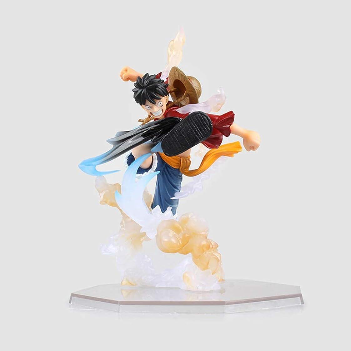 頬バズコミットアニメワンピースモデル、PVC子供のおもちゃコレクション像、デスクトップ装飾玩具像玩具モデル、ZEROラバーロードフライ(15cm) JSFQ