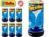 Tornado Maker Toy (Pack of 6) by Ja-Ru | Make Your Own Tornado Toy Game. Great Party Favor Toys. Party Supplies. Twister for Kids and Adults. Plus 1 Bouncy Ball. 5462-6p